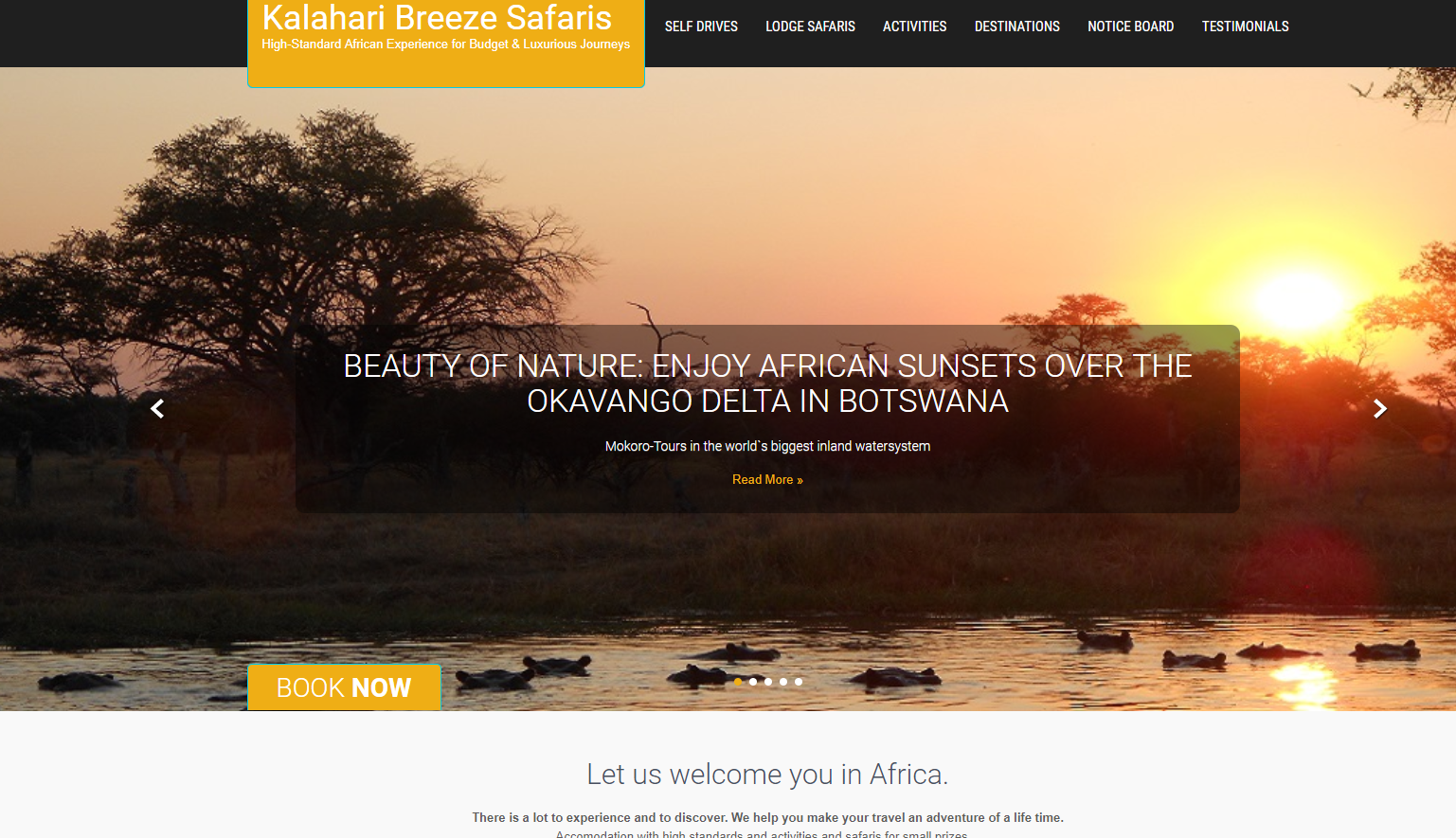 Web Design Kalahari Breeze Safaris